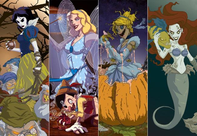 disney princesses horror makeover